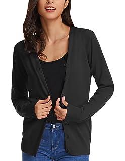 6c8b367420 GRACE KARIN Women s Long Sleeve Button Down Classic Sweater Knit Cardigan