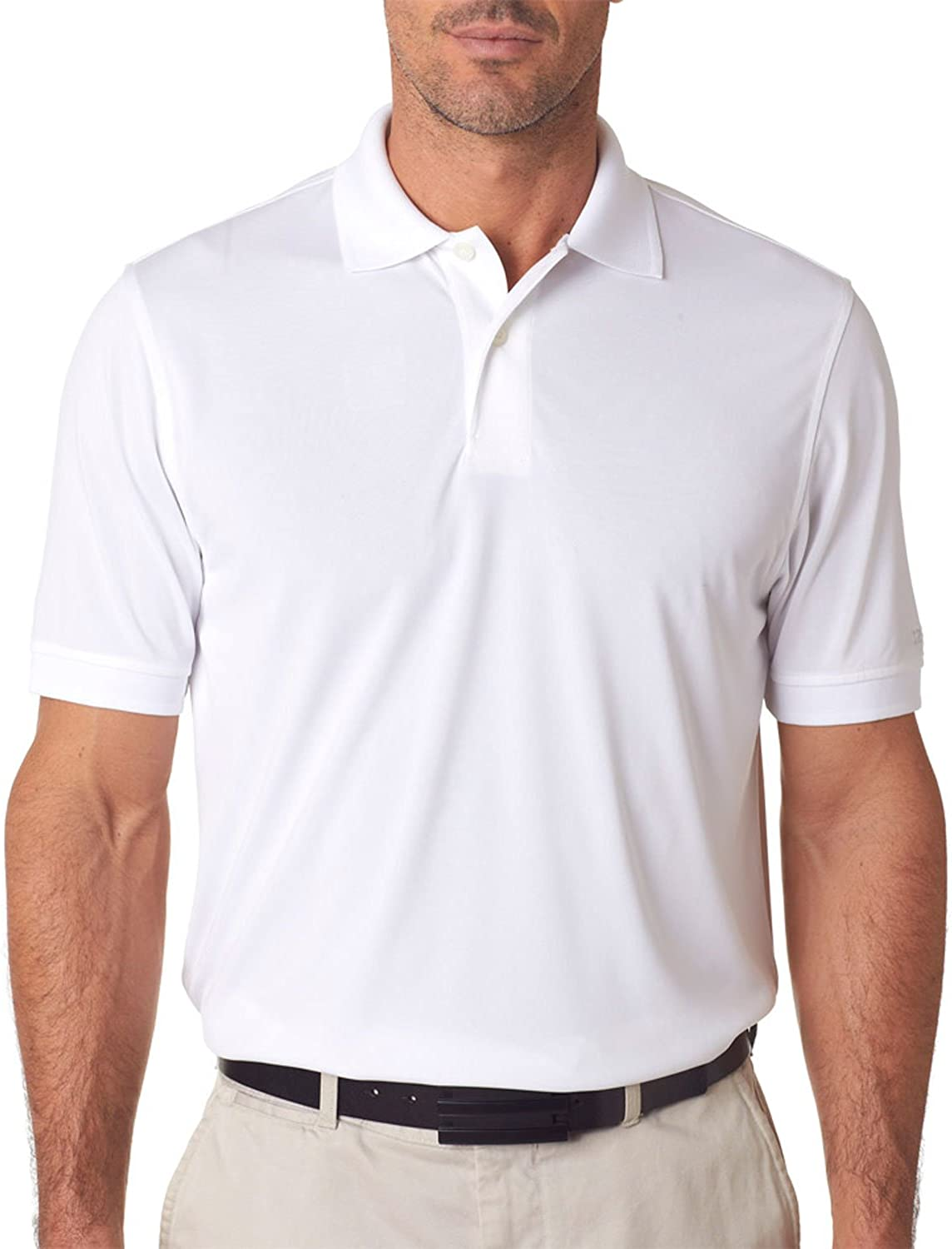 IZOD Performance Polyester Mens Solid Polo Shirt 13Z00111-White ...