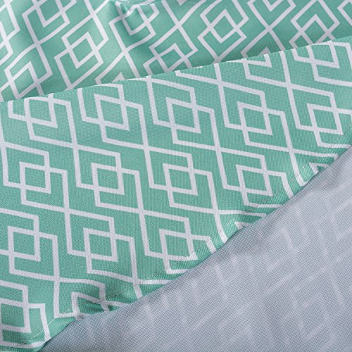 """DII Spring & Summer Outdoor Tablecloth, Spill Proof and Waterproof with Zipper and Umbrella Hole, Host Backyard Parties, BBQs, & Family Gatherings - (60x84"""" - Seats 6 to 8) Aqua Diamond"""