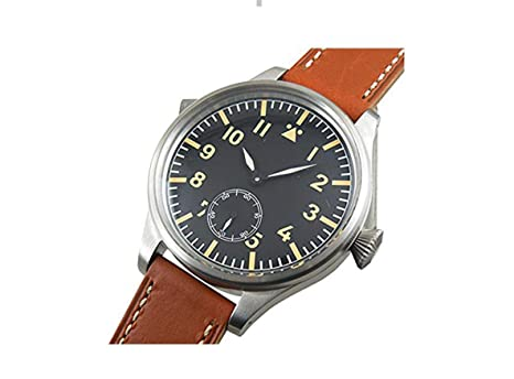 Amazon com: WhatsWatch 55mm Parnis Big Face Blue Second