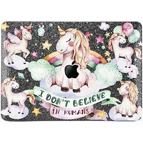 Lex Altern Glitter MacBook Case New Pro 13 inch Mac 15 Air 11 12 2018 Retina Bling Cute Unicorn Gray Matte Cover Hard Apple Rainbow Pink 2017 2016 Kawaii Sparkly ()