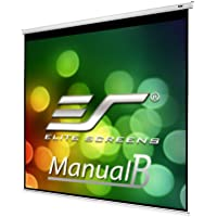 Elite Screens Manual B Series, 100-inch Diagonal 1:1, Pull Down Projection Manual Projector Screen with Auto Lock, M100S