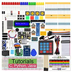 Please note this kit DOES NOT include Raspberry Pi.Supported Models: Recommended: Raspberry Pi 4B / 3B+ / 3B Compatible: Raspberry Pi 3A+ / 2B / 1B+ / 1A+ / Zero W / ZeroTutorials and Code: This kit contains 2 detailed PDF tutorials, one (T...