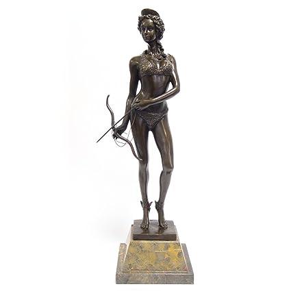 Luxus Pur UG Caza Diosa Diana – Figura de bronce flecha & Arco Pie Escultura Estatua