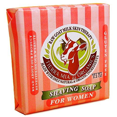 Tierra Mia Organics Ladies Moisture Rich Shave Soap Bar, 2.2 Ounce