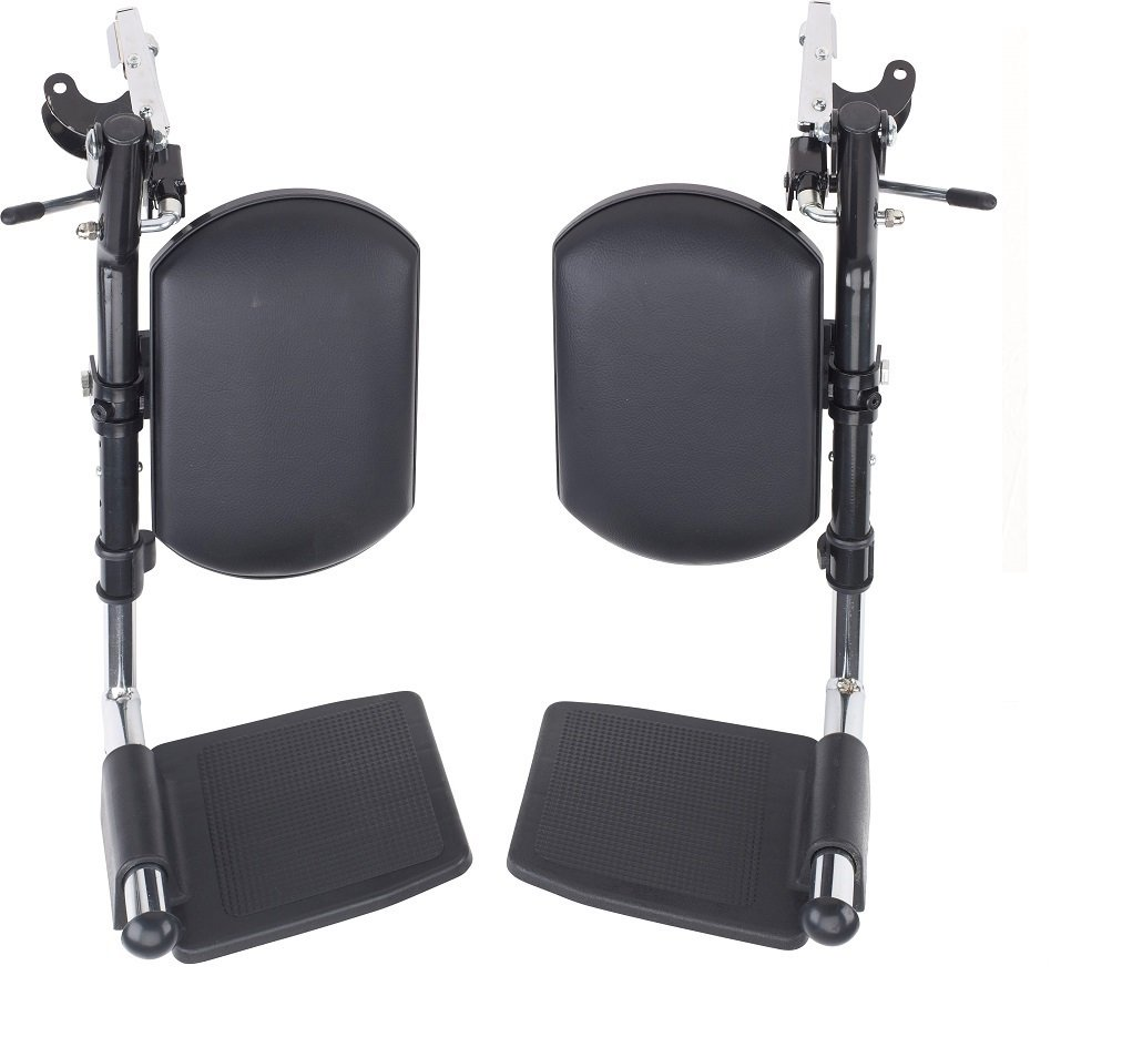 Wheelchair Elevating Legrests with Padded Calf Pads 1 Pair by Healthline Trading by HEALTHLINE