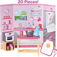 """Adora Amazing World """"Love To Bake Wooden Play Set"""" – 20 Piece Accessory Set For 18"""" Dolls [Amazon Exclusive]"""