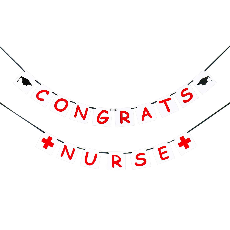 Congrats Nurse Banner, Nurse Graduation Banner, Nurse Graduation Decor, RN Graduation Sign
