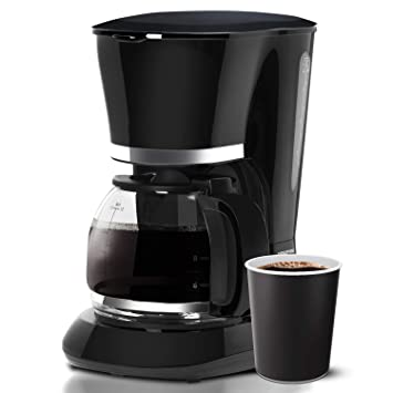 Geepas 1 5L Filter Coffee Machine   800W Coffee Maker for Instant Coffee,  Espresso, Macchiato & More   Boil-Dry Protection, Anti-Drip Function,