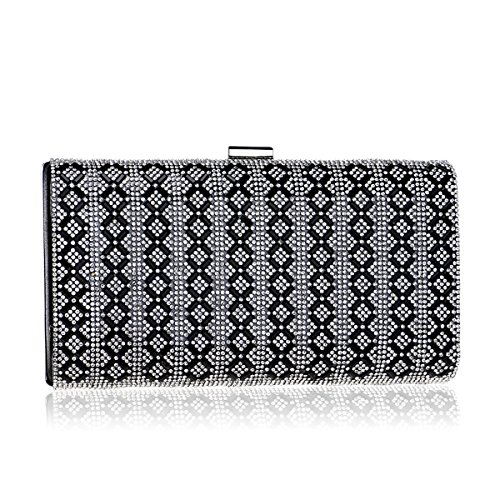 Women's Clutch Bridal Bag Diamond Crystal Wedding Black Hand Evening Bag Handbags awrOaPqZ