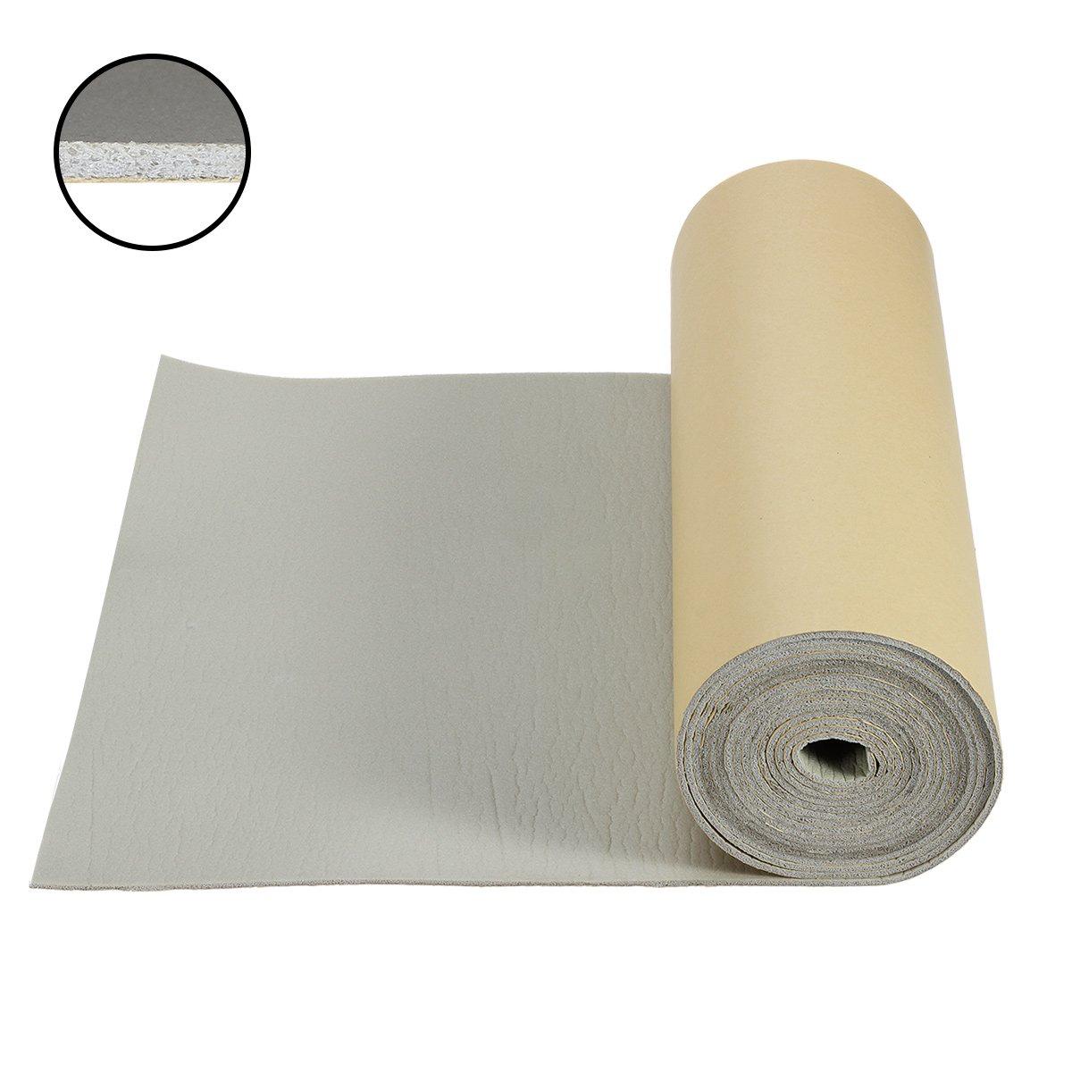Partsam 157 mil 37.5 sqft Car Sound Deadening Mat,Heat Insulation Blocker Pad,Closed Cell PE Foam Cool Liner,Self-adhesive Sound Deadener,Thickness Sound Dampening Material