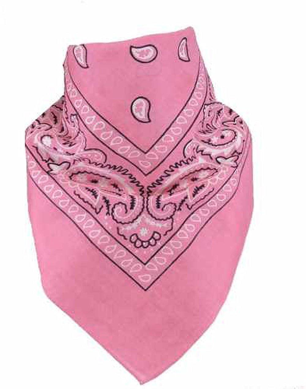 UK SELLER Pink Mens Bandana Head Scarf Mens//Womens Bandana Head Scarf Neck Scarves Paisley 100/% COTTON