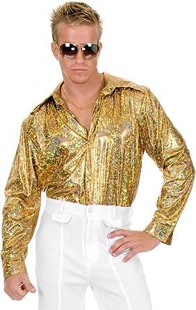 Adult Men/'s Multi Glitter Disco Shirt