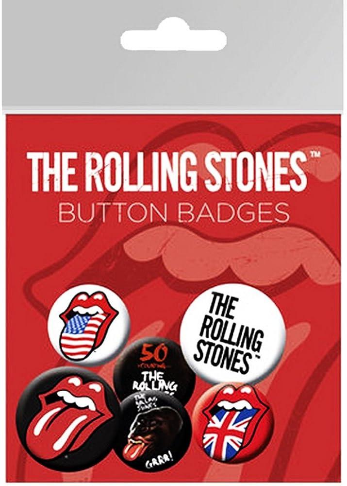 Rolling Stones The Pack de chapas (Talla Única) (Multicolor): Amazon.es: Ropa y accesorios