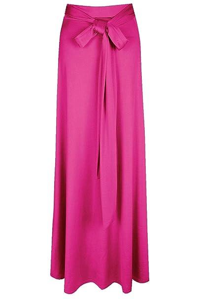 a4264309f5 Boohoo Womens Mila Obi Tie Thigh Split Maxi Skirt in Fuchsia size 6 ...
