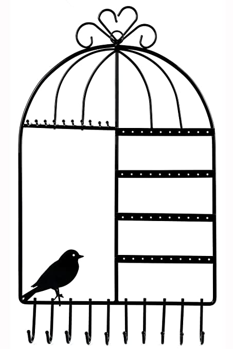 Amazoncom WELLSTRONG Earring Necklace Holder Birdcage Wall Mount