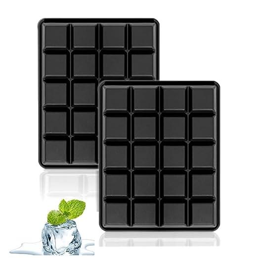 4 opinioni per Stampo per cubetti di ghiaccio in silicone, 40 Cubetti Vaschette Ghiaccio in
