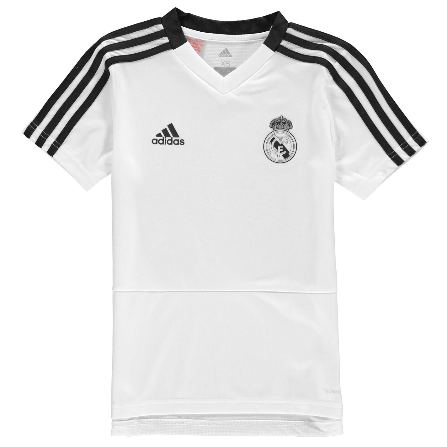 adidas 2018-2019 Real Madrid Training Football Soccer T-Shirt Jersey (White) - Kids