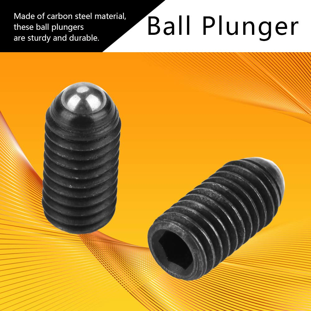 M816 Carbon Steel Steel Ball Plunger 10PCS Ball Plunger Clamps for Mechanical Devices