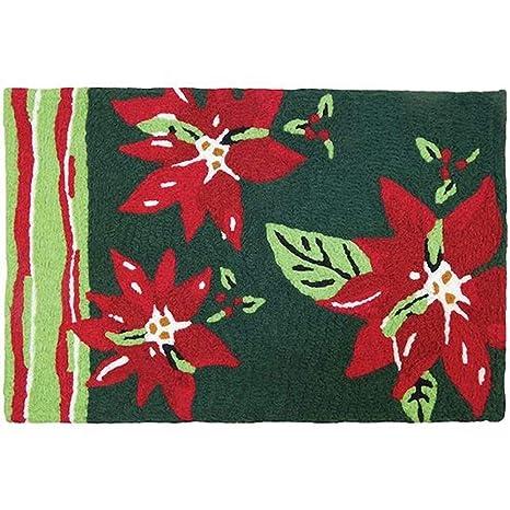 Amazon Com Jellybean Poinsettia With Stripes Winter Decor Indoor