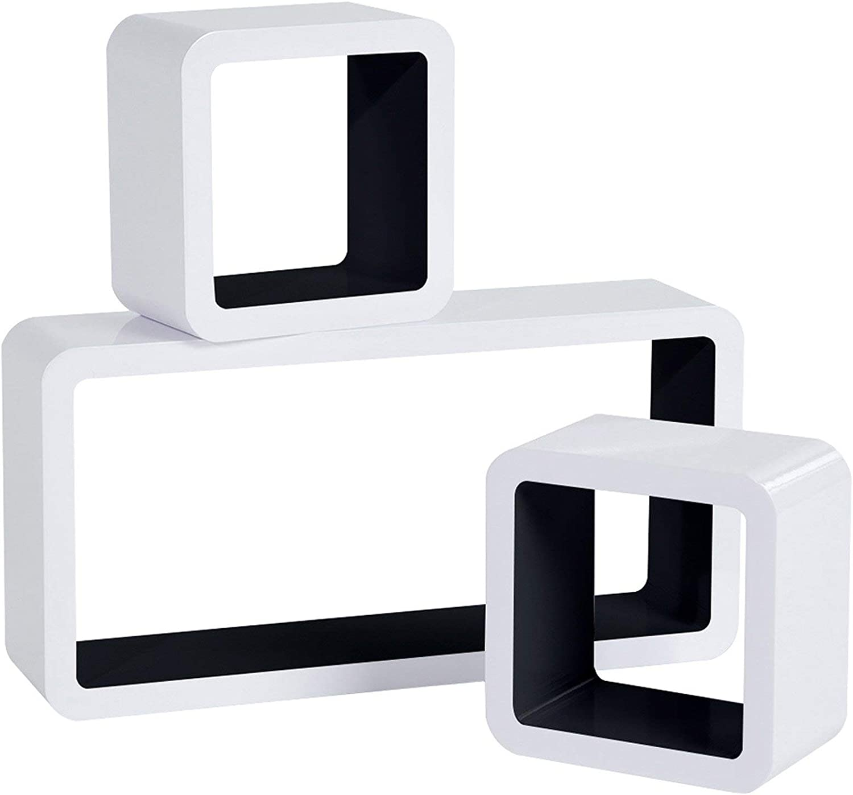 Woltu Rg9229sz Wandregal Cube Regal 3er Set Bucherregal