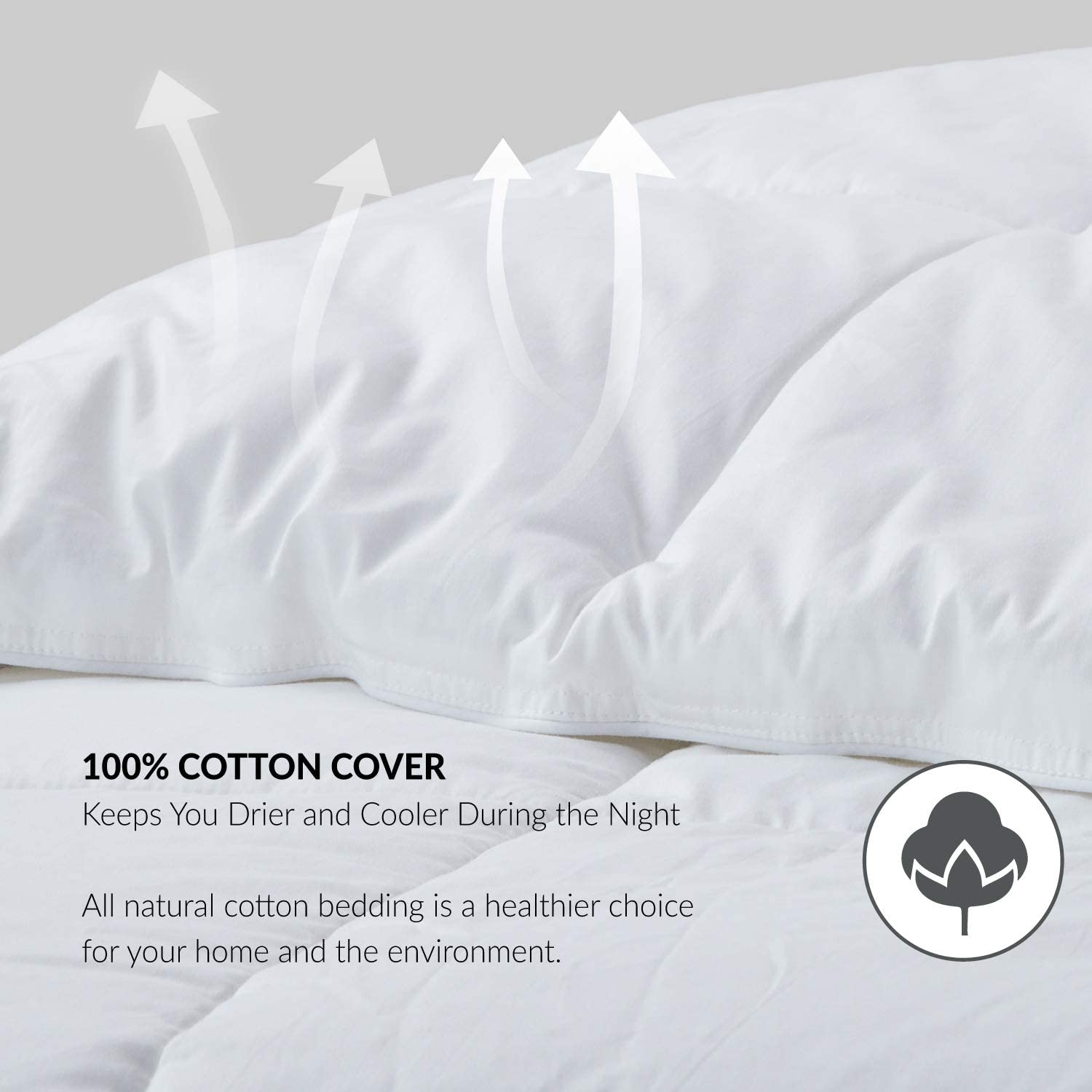 Bedsure 100/% Cotton Shell All-Season Down Alternative Comforter Queen with Corner Tabs 60OZ Lightweight/&Fluffy Plush Microfiber Fill in Whole Piece Machine Washable with No Clumping Duvet Insert