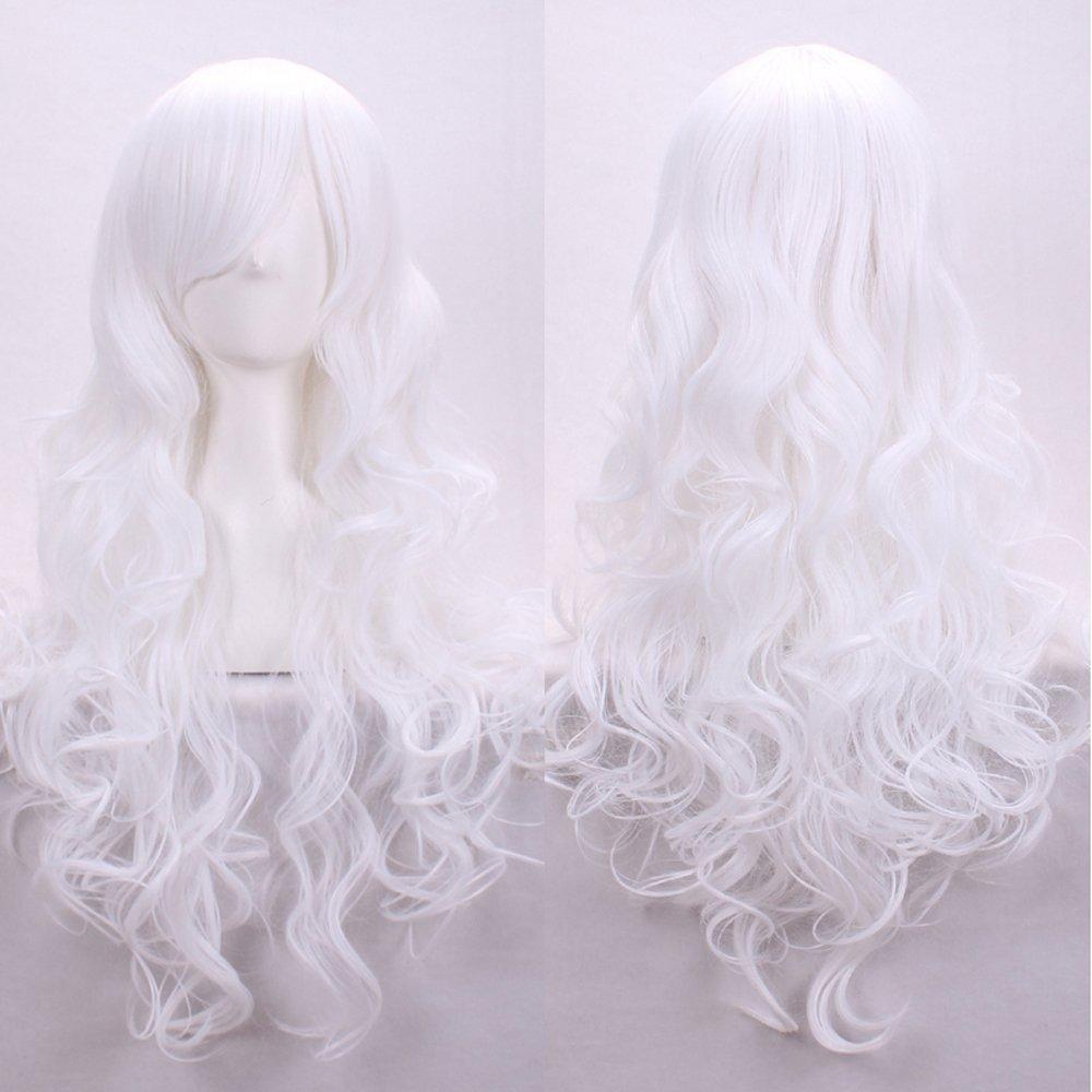 Kissparts 80cm Peluca ondulada violeta oscura de las pelucas de las mujeres con el casquillo y el peine de la peluca KP-JF80CURLYDP