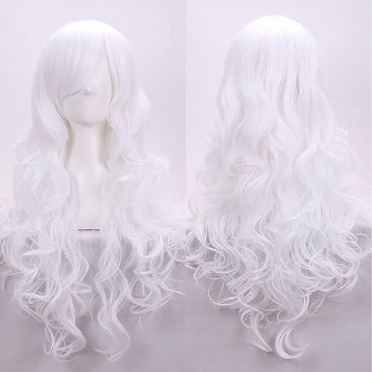 kissparts mujeres pelucas 32 Inch Rojo Oscuro Ondulado Cosplay Peluca con peluca y peine: Amazon.es: Belleza