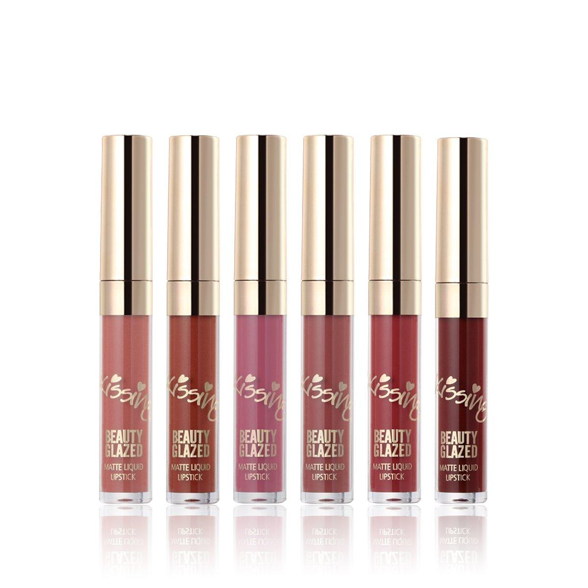 6 Couleurs Mini Rouges à lèvres mat liquides Longue Durée Rouge à Lèvres Liquide Waterproof Hydratant Brillant Maquillage à Lèvres