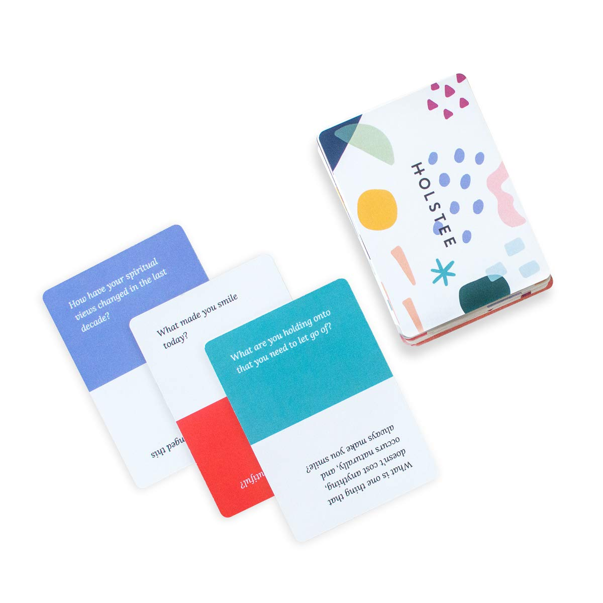 Holstee Reflection Cards - A Deck of 100+ Questions to Spark Meaningful Connections and Conversations