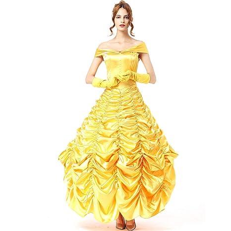 LBFKJ Traje de Cosplay, Vestido de Halloween Belle Princess ...