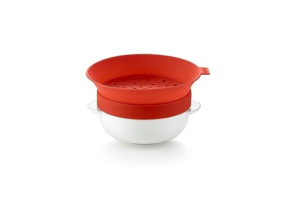 Lékué Cazo para Calentar Cereales, cerámica, Rojo, Centimeters: Amazon.es: Hogar