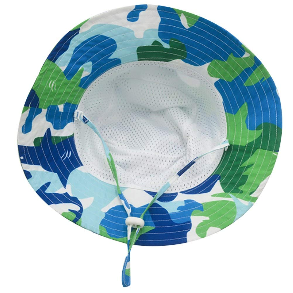 Toddlers Baby Boy Girl Camouflage Wide Brim UV Protection Hat Infant Sun Cap Spring Summer Kids Bucket Caps
