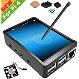 for Raspberry Pi 4 Touch Screen with Case, 3.5 inch Touchscreen with Fan, 320x480 Monitor TFT LCD Game Display