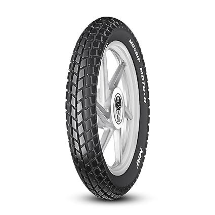 ff626c1b2239d6 MRF Mogrip Moto-D 3.00-18 52P Tube-Type Bike Tyre, Rear: Amazon.in: Car &  Motorbike