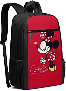 Travel Laptop Backpack Beautiful Minnie Mouse College School Bookbag Computer Bag Casual Daypack For Women Men