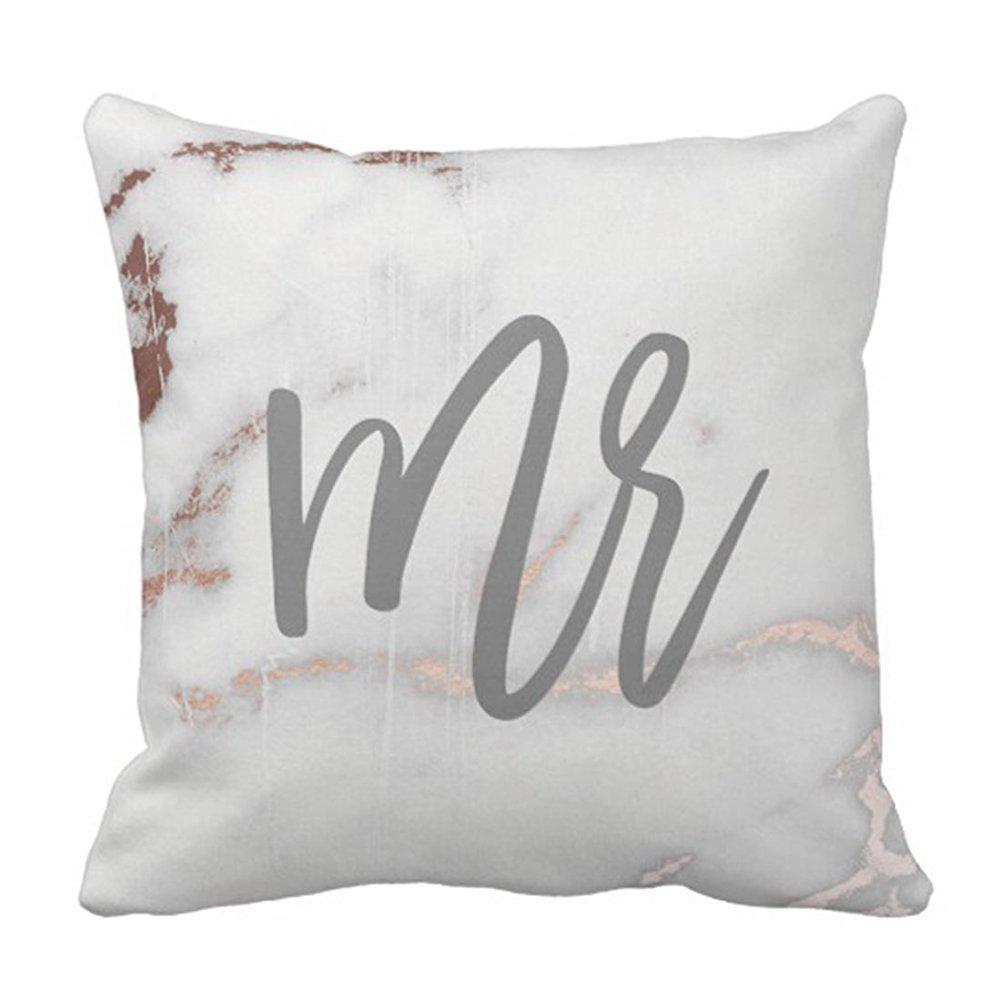 spxubz Mr大理石とローズゴールドクッション枕カバー装飾ホーム装飾素敵なギフトスクエアインドア/アウトドア枕カバーサイズ: 20 x 20インチ(両面) 20x20 Inch B07CGMFSHZ