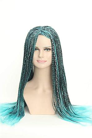 Weave Wigs , Inspired by Uma of Decendants Blue Black Braids Ombre Cosplay  Dreadlock Wig for Kids