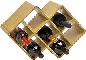 Oenophilia Bamboo Wine Rack - 8 Bottle