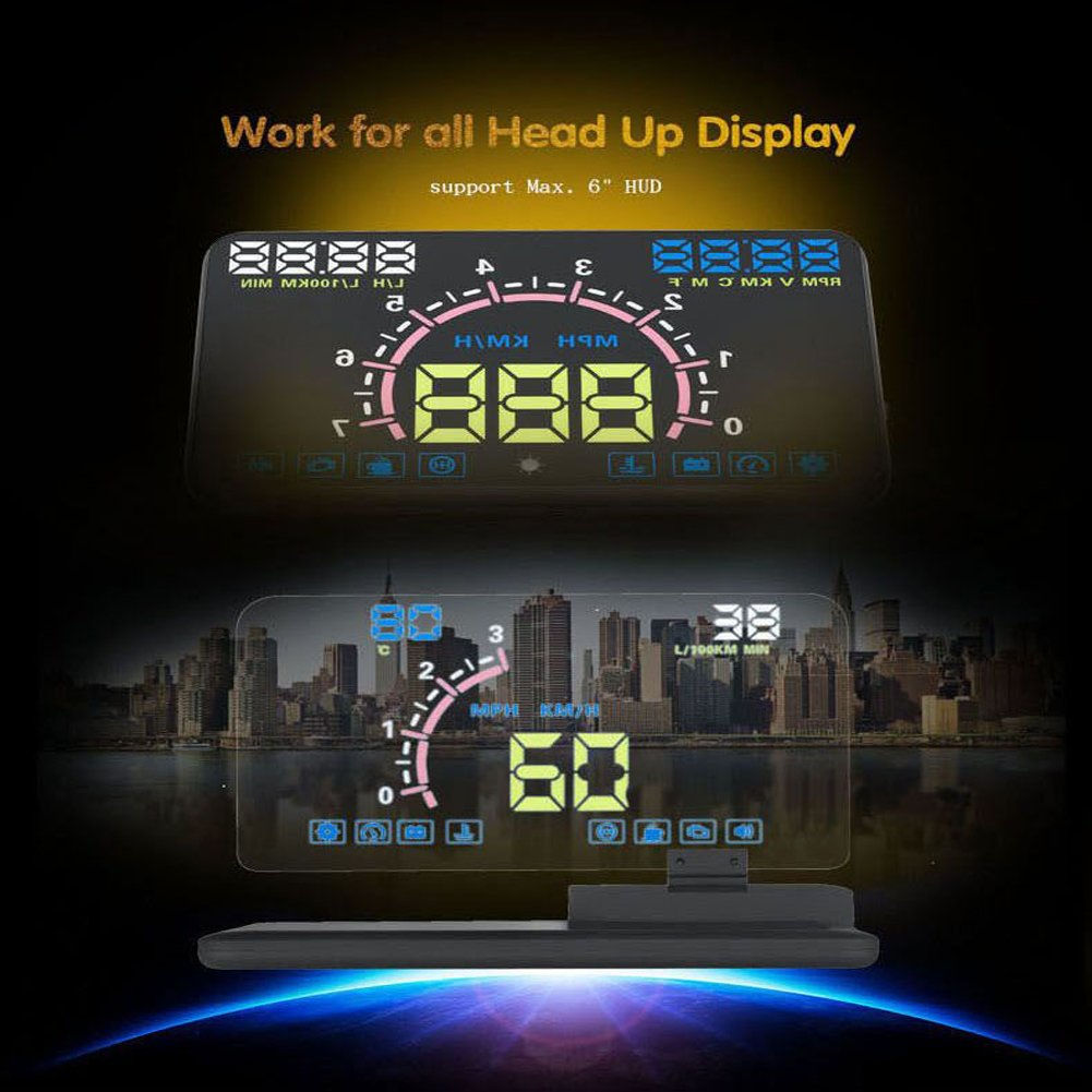 Amazon.com: VGEBY Car HUD Phone GPS Navigation HD Image Reflector Head Up Display Phone Holder Mount: Automotive