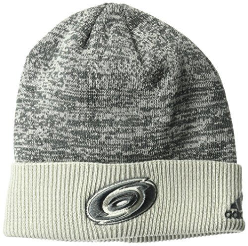 fan products of NHL Carolina Hurricanes Adult Men Pro Authentic Travel & Training Cuffed Beanie, One Size, Gray
