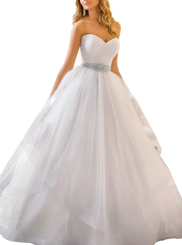 APXPF Femme Volants Robes de mariée Robe de Bal pour Le Cou