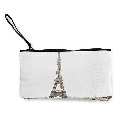 Wrution Eiffel Tower Paris Sepia - Monedero de Lona con ...