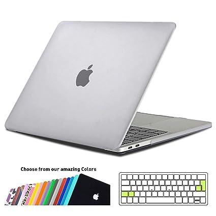 iNeseon Funda MacBook Pro 13 2018/2017/2016, Carcasa Case y Cubierta del Teclado Transparente EU Layout para MacBook Pro 13.3 Pulgadas con/sin Touch ...
