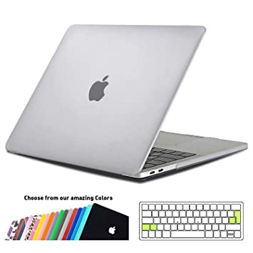 iNeseon Funda MacBook Pro 15 2018/2017/2016, Carcasa Case y Cubierta del Teclado Transparente EU Layout para MacBook Pro 15 Pulgadas con Touch Bar ...
