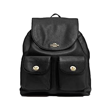 342ad3db2 Amazon.com | COACH F29008 Billie Pebble Leather Backpack Double Shoulder  Bag Black | Luggage & Travel Gear