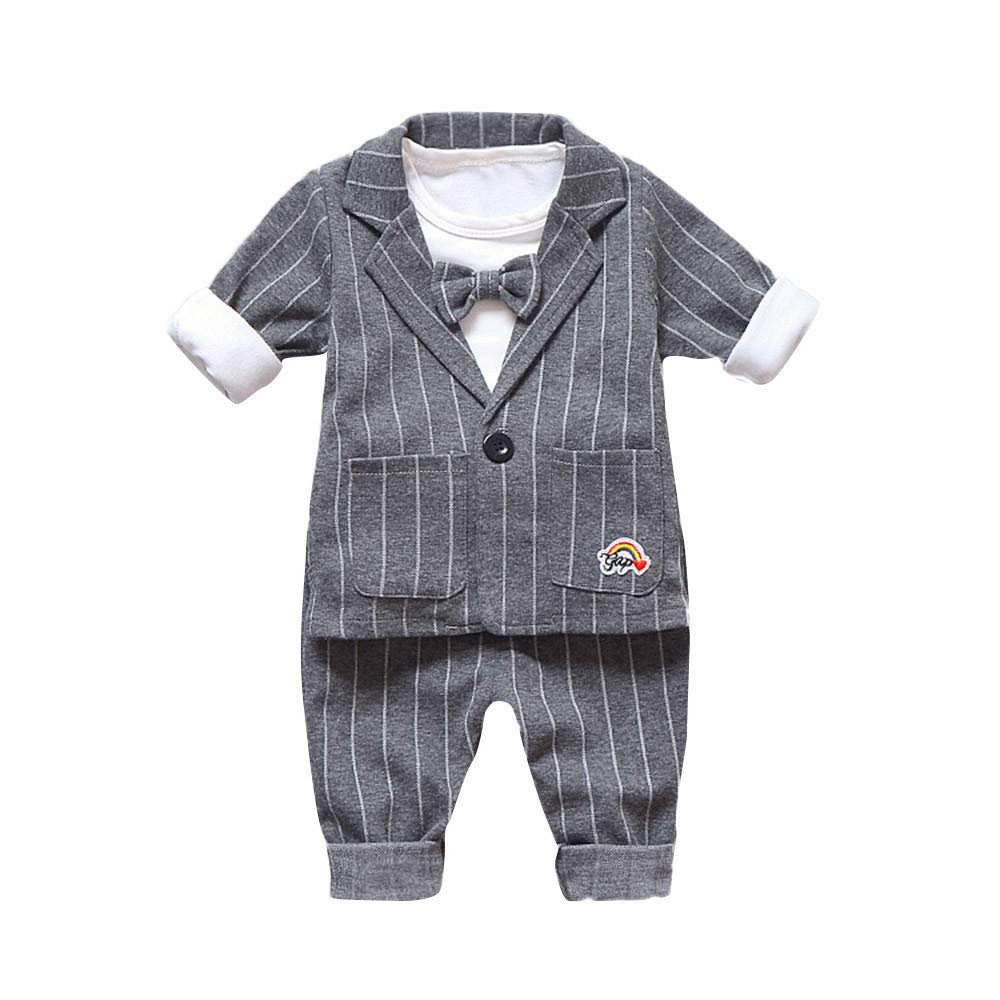SMALLE ◕‿◕ Clearance,Baby Kids Boys Clothes Long Sleeve Gentleman Jacket+Shirt+Pants Outfits Set