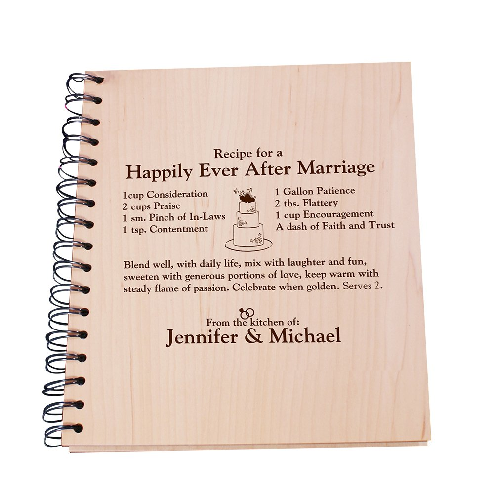 GiftsForYouNow Happily Ever After Engraved Recipe Card Holder