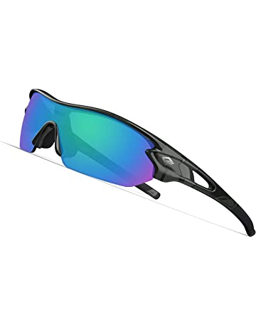 f4d71ca2909 TOREGE Polarized Sports Sunglasses with 3 Interchangeable Lenes for Men  Women Cycling Running Driving Fishing Golf