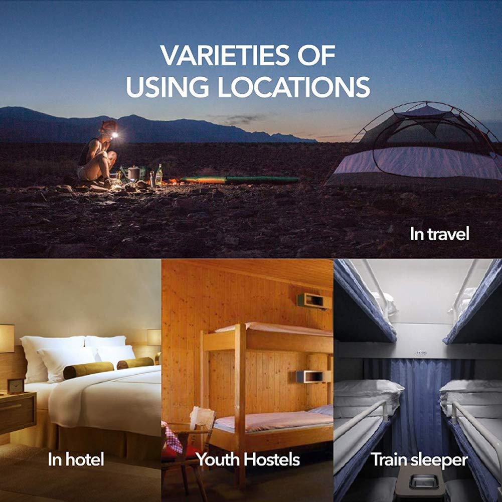 210 * 75cm Gris WENTS S/ábana para Saco de Dormir Saco de Dormir para Acampada y Viaje Camping Exterior Saco de Dormir S/ábanas Interiores Ultraligeros